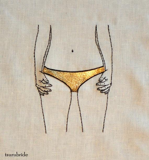 On of my favorite textile artists, Meghan Willis of TSURUBRIDE <3