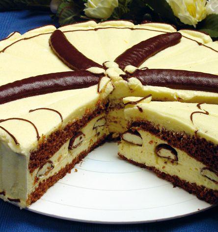 Torta Banániky v čokoláde