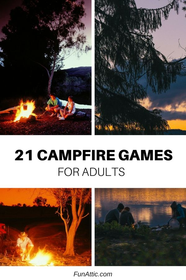 21 campfire games for adults that will turn any camping adventure into glamping! Camp in style and fun with these ideas from funattic.com