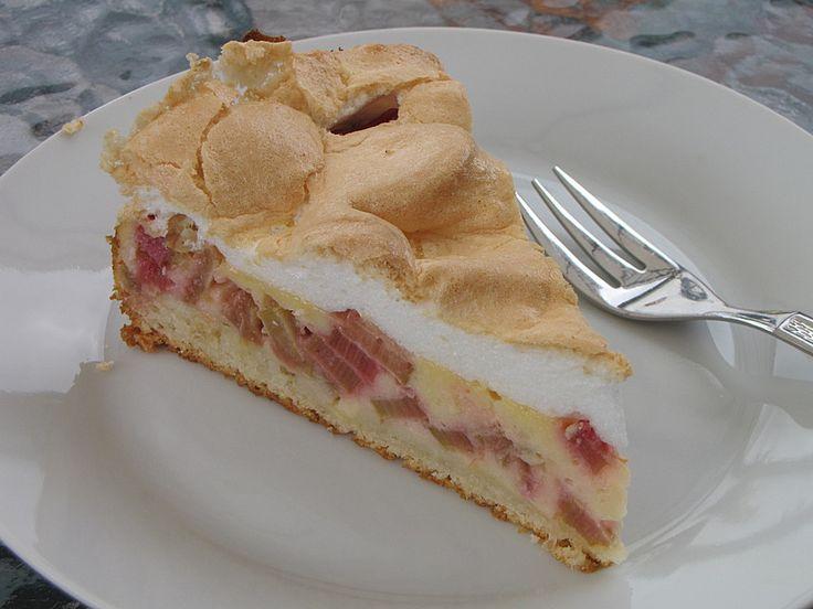 Geheime Rezepte: Rhabarber - Quark - Kuchen unter Baiserhaube