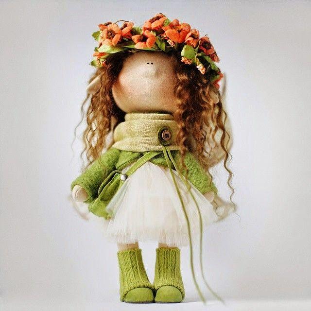 Маленькая куколка в стиле Татьяны Коннэ, выкройка + мини мастер-класс!