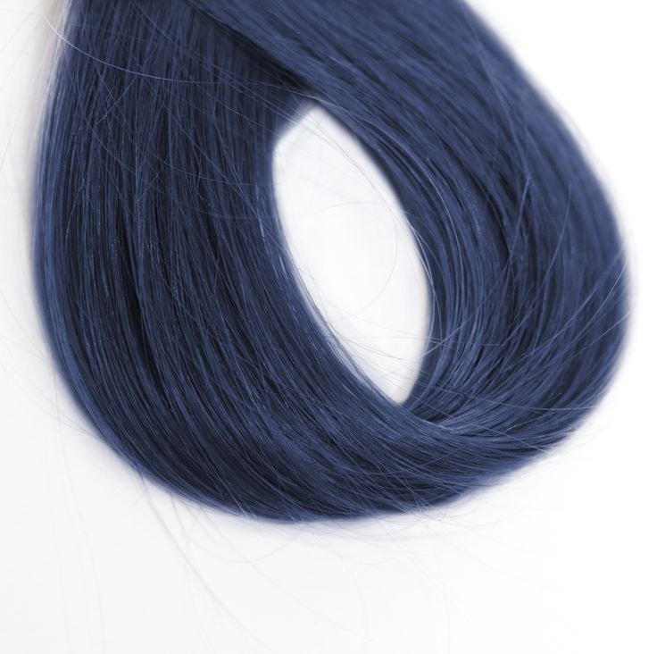Midnight Ink Denim Hair: Make a statement with this blue-black shade reminiscent of the night sky! Adam Reed loves this shade on natural brunettes and graphic hairstyles that come alive thanks to the multidimensional effect it creates. Discover more - ow.ly/Z43En