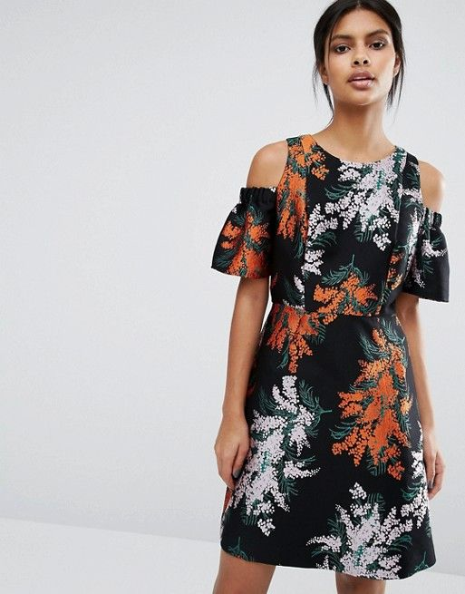 Whistles | Whistles Gwyn Jacquard Cold Shoulder Dress