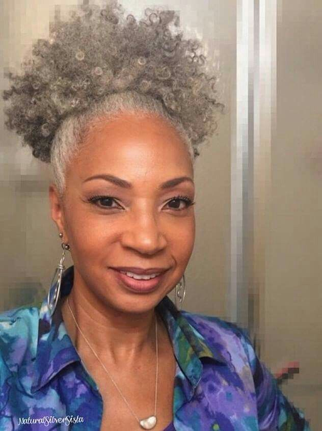 natural and gray. mature women. curly and gray. curly gray hair. gray afro. gray natural hair. black women with gray hair.