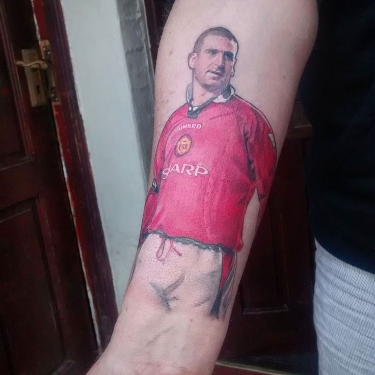Alan Chadwick posted this photo on the official @manutd Facebook page - a tattoo of the legend that is, Eric Cantona! #mutattoos