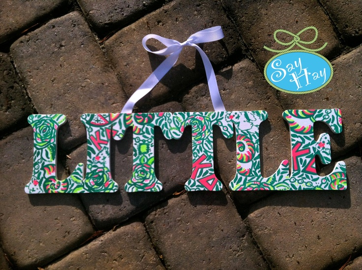 Kappa Delta Lilly Little THIS IS MINE AHHHH! My little is going to be spoiled.