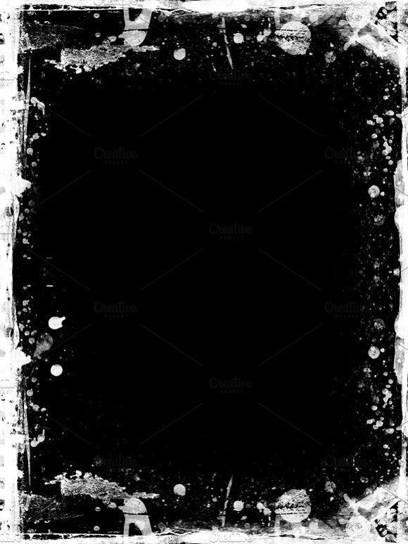 Grunge Textured Retro Style Frame Grunge Textures Photo Overlays Texture