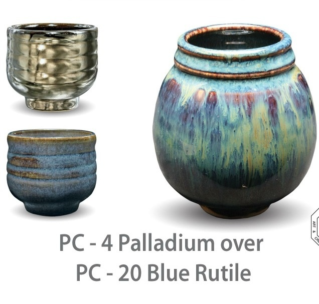 Oh Snap, Real Trippy... Amaco Palladium: http://www.bigceramicstore.com/amaco-potters-choice-pc4-palladium-cl-o.html & Amaco Blue Rutile: http://www.bigceramicstore.com/amaco-potters-choice-pc20-blue-rutile-ap-o.html
