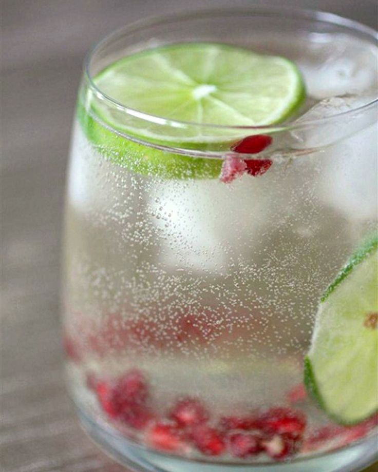 Pomegranate And Lime White Wine Spritzer. How refreshing.