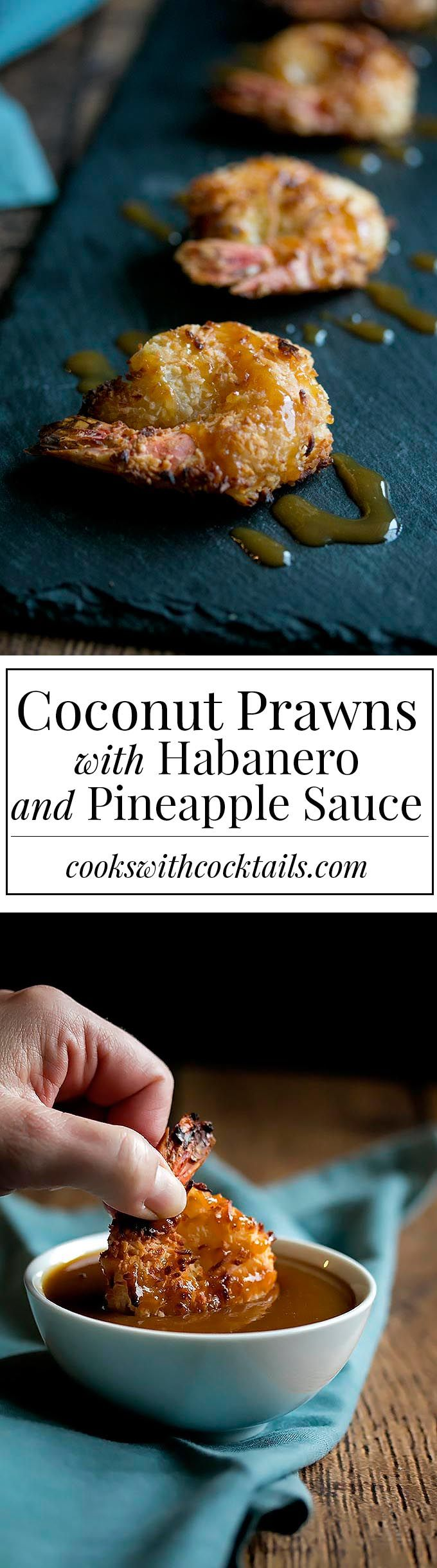 Coconut Prawns with Habanero and Pineapple Sauce