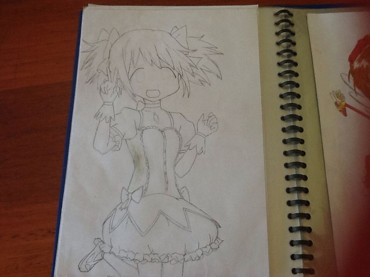 This is madoka! I was gonna colour it but i had an accident with the whiteout.... By Chloe pash?