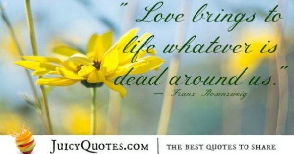 Cute Love Quote - Franz Rosenzweig