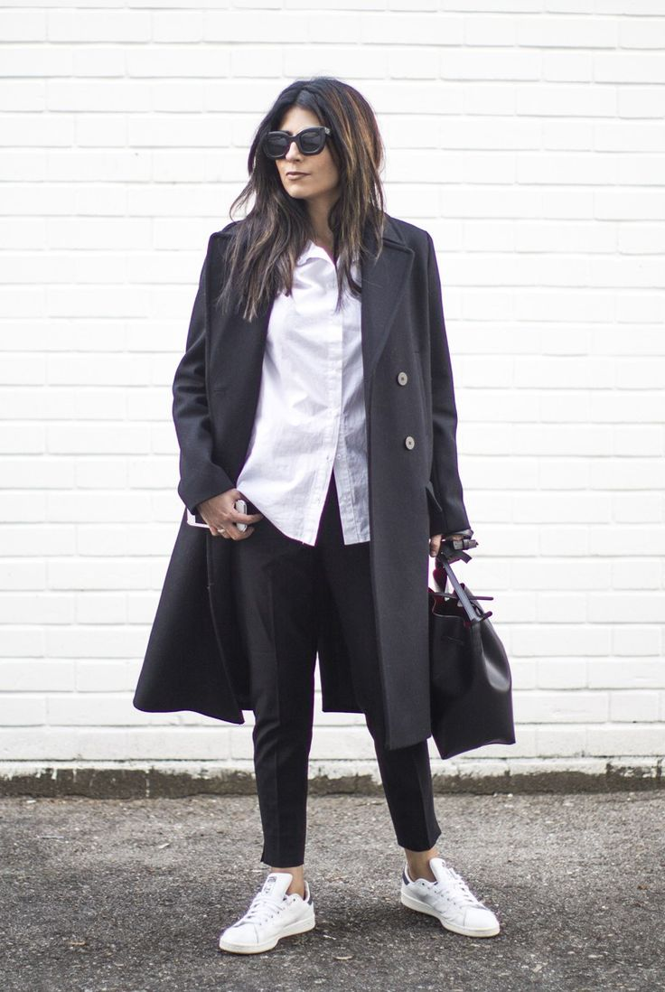 This is one of the best outfits worn with trendy sneakers!