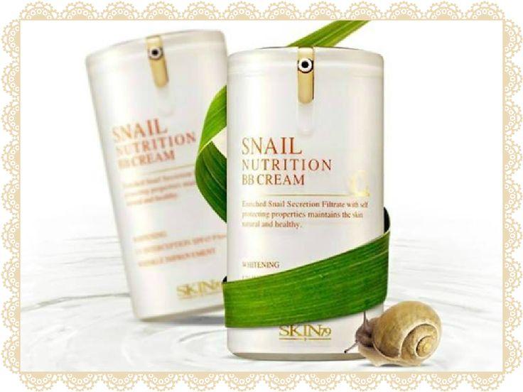 BB CREAM SNAIL NUTRITION SKIN79 Precio: $15.590 Stock: 1 Descripción: Snail Nutrition BBcream de Skin79 cumple una triple función. Es altamente nutritiva, protege la piel de los rayos UV (FPS 45), previene la aparición de manchas y arrugas, para lucir un cutis transparente, limpio y radiante. Indicado para pieles secas. Mantiene la piel suave e hidratada durante todo el día.