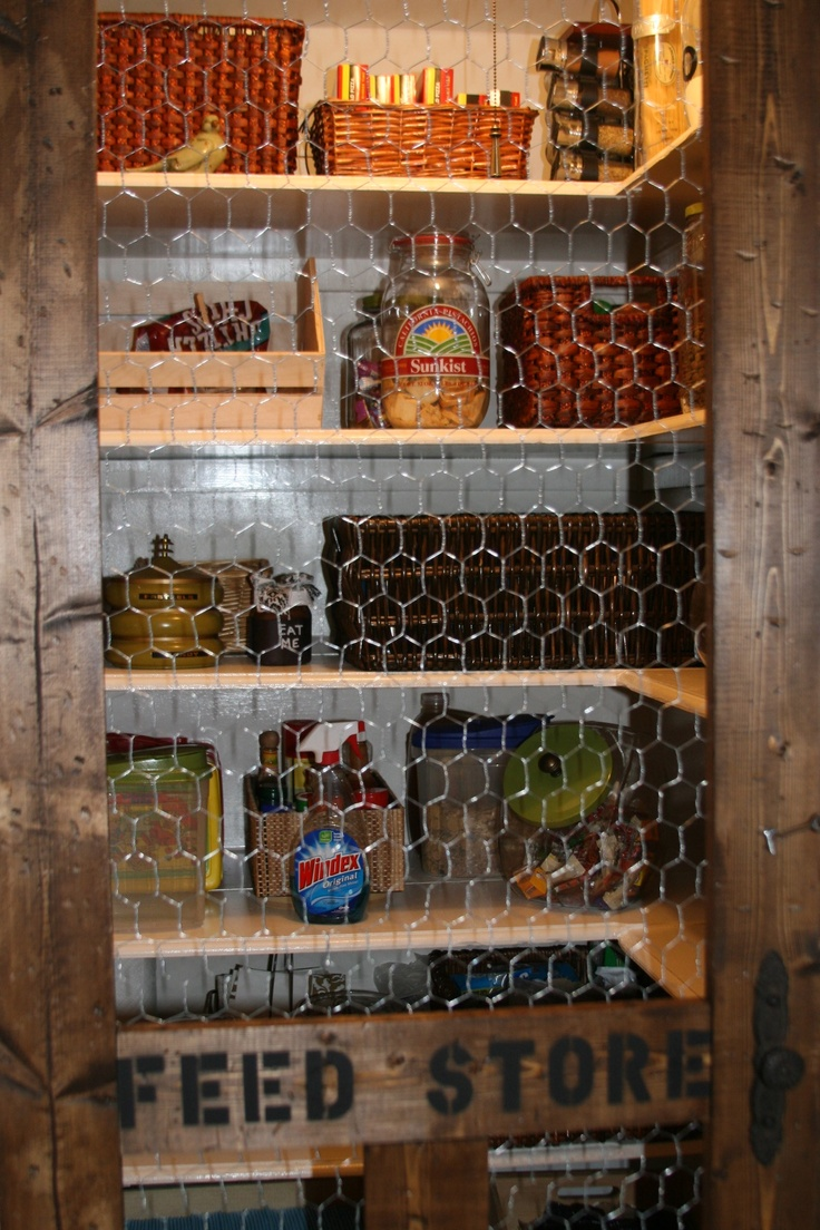 Feed Store Screen Pantry Door---I love this....We have a friend that has a screen door for her pantry!  LOVE LOVE LOVE IT!!!