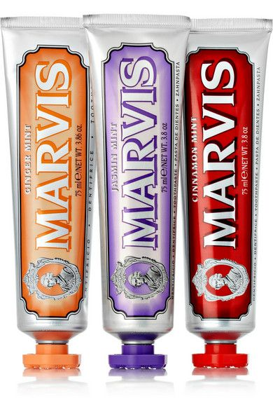 MARVIS Cinnamon Mint, Jasmin Mint and Ginger Mint Toothpaste, 3 x 75ml