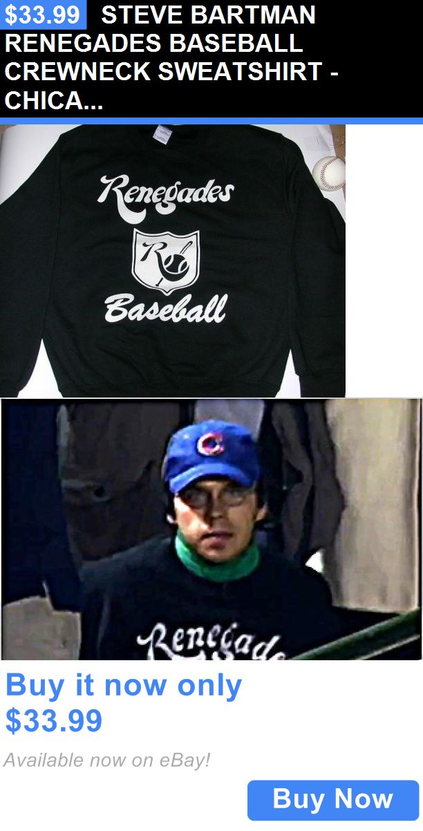 Sports Memorabilia: Steve Bartman Renegades Baseball Crewneck Sweatshirt - Chicago Cubs - New/Mint BUY IT NOW ONLY: $33.99