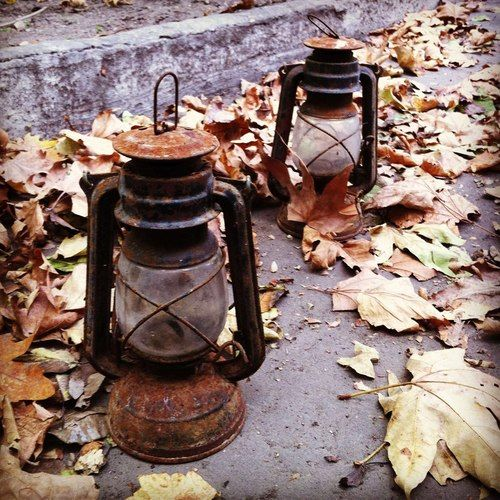old, rusty lanterns :)