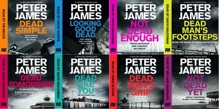 All the books in Peter James' Brighton-set DSI Roy Grace series in order of publication.