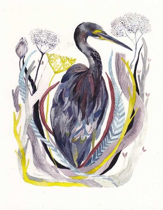 Absolutely gorgeous archival print of a Blue Heron.  Price $20.  Michelle Morin (unitedthread)