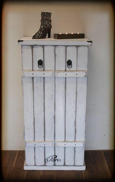 Schuhschränke - Großer Schuhschrank, Shabby Chic, Paris - ein Designerstück von Vintage-Manufaktur-Berlin bei DaWanda