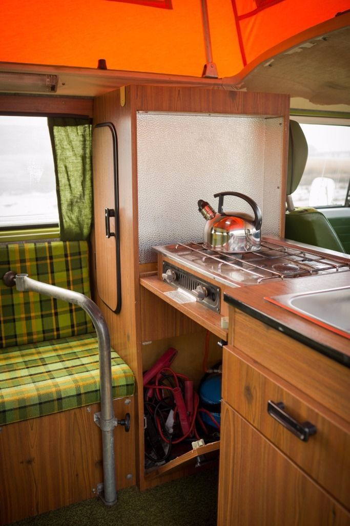 Vw type 2 bay campervan 1979 with original westfalia for Vw kombi interior designs