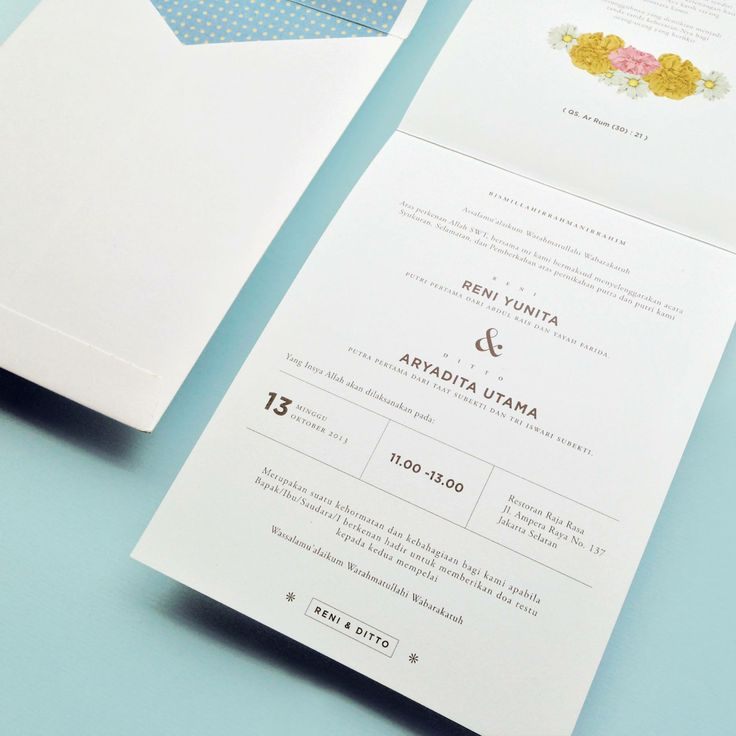 Wedding invitation by Pola Artistry