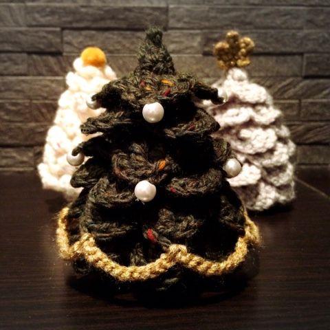 手のひらサイズのクリスマスツリー 2015の作り方|編み物|編み物・手芸・ソーイング|ハンドメイド・手芸レシピならアトリエ