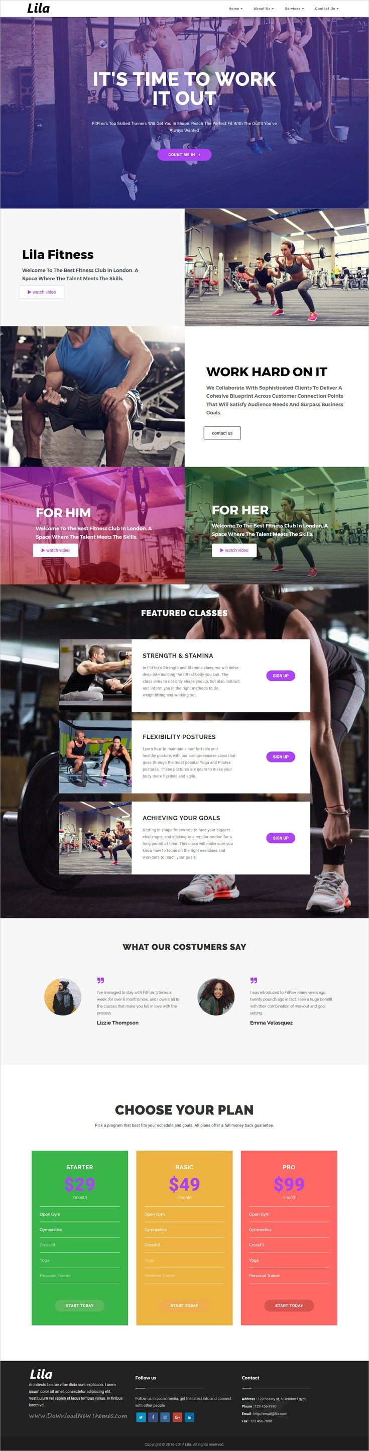 30 best web design fitness workout etc images on pinterest gym lila one page wordpress malvernweather Images