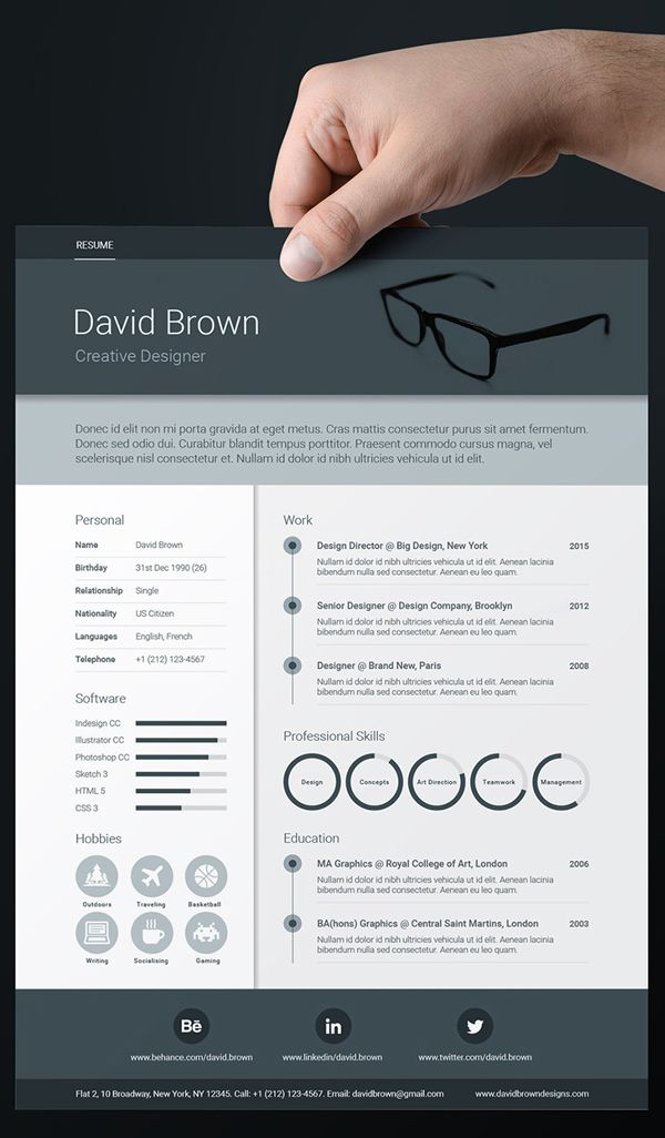 337 best Creative Resume images on Pinterest Resume, Branding - artistic resume templates free
