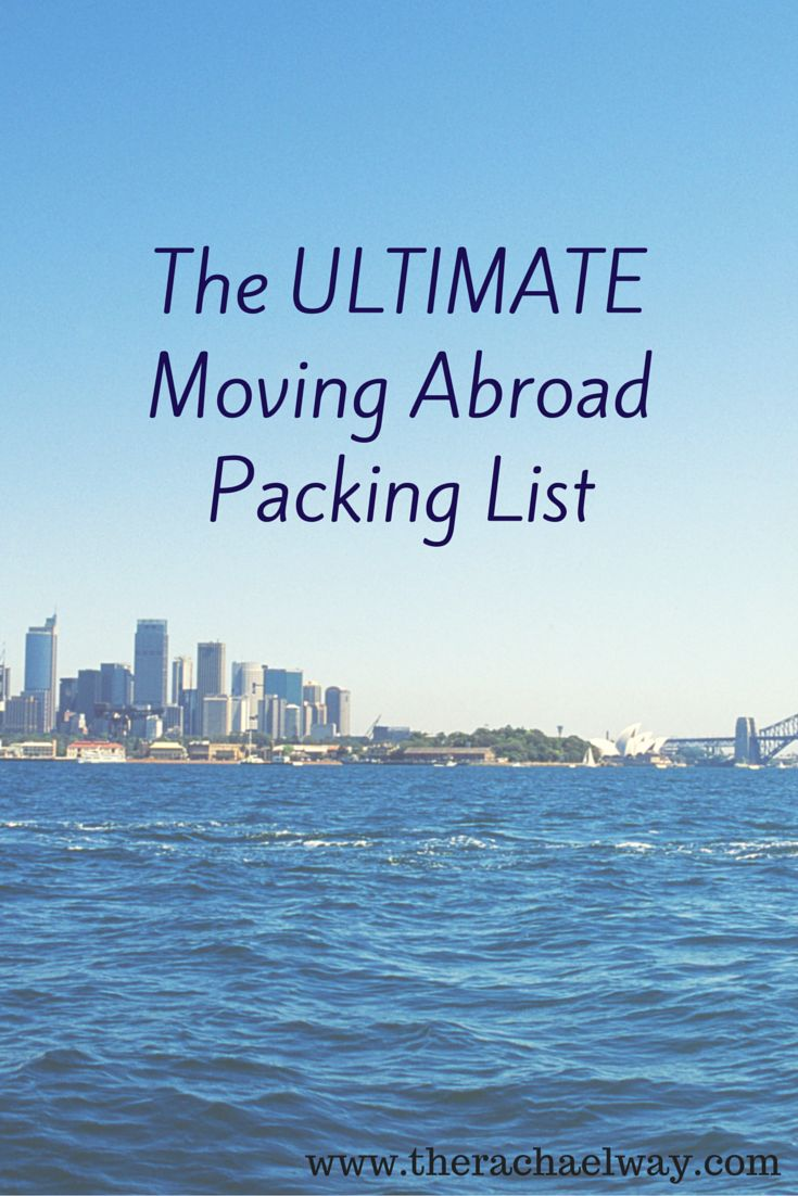 A complete guide about what to bring when moving or living abroad.