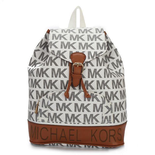 Michael Kors Jet Set Logo PVC Large Grey Backpack