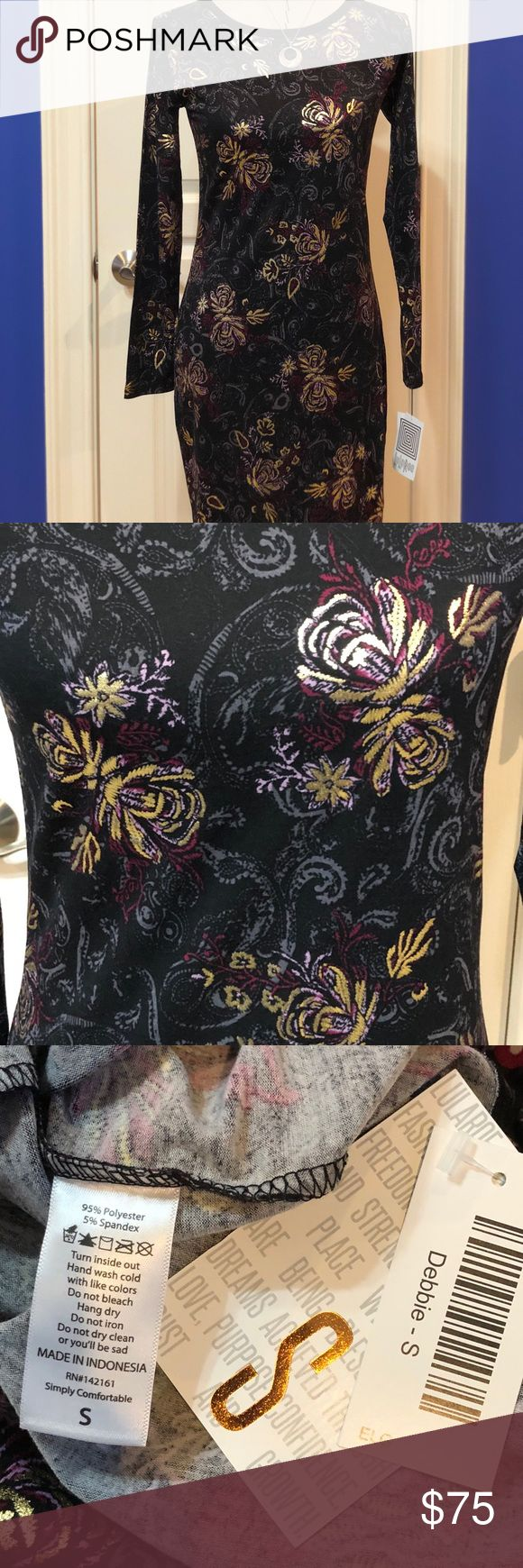 LuLaRoe BNWT S ELEGANT DEBBIE Simply beautiful BNWT S ELEGANT DEBBIE! Gorgeous.   Please remember Poshmark wants 20%; I am not a consultant - I paid retail or more - I just love making outfits and have a LuLa addiction. These are from a smoke free/pet free home. If you want a lower price, I'm happy to send a PayPal invoice.... LuLaRoe Dresses