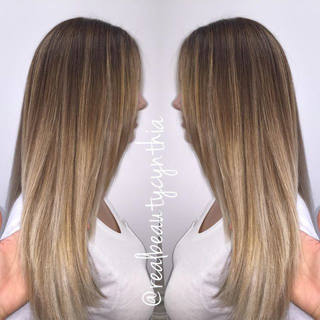 Balayage sombre on straight hair so you can see the blend just added a few\u2026