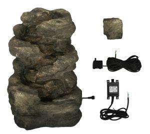 Fuente Cascada de Agua Rocosa 4 Alturas - Luces LED 144.99€