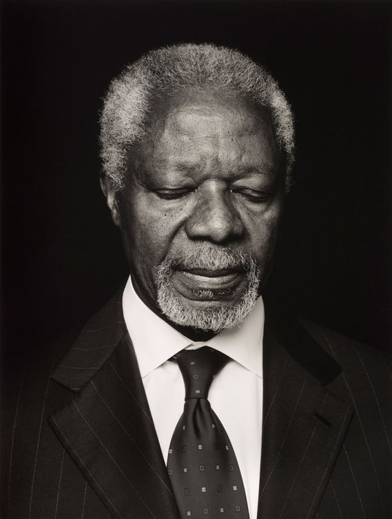 Anoush Abrar's portrait of Ghanaian diplomat Kofi Annan, commissioned by ZEIT Magazine. The portrait placed third in the Taylor Wessing Photographic Portrait Prize