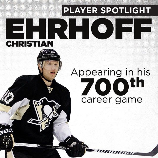 Today's player spotlight features Christian Ehrhoff, who although he's a fresh face on the Penguins, is playing in his 700th career NHL game tonight.