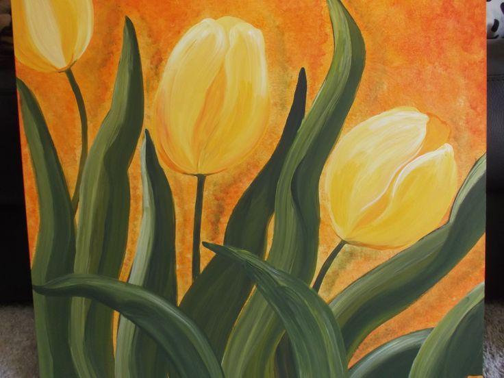 Tulipani gialli cm. 50 x 50 Yellow tulips