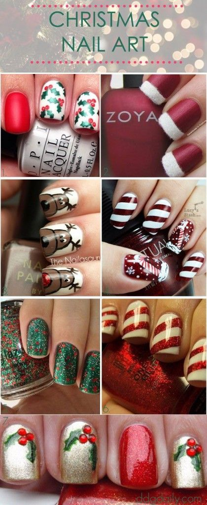 "I like the ""Santa Hat"" nails in the top right corner"
