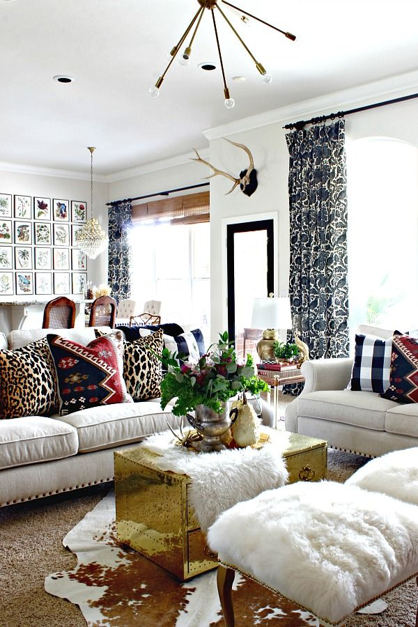 2016 Fall Home Tour  ||  Living Room  ||  Dimples and Tangles