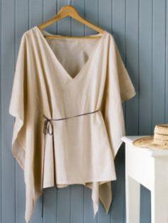 Top o vestido playero sin coser, ultrafacil, y express (rapidisimo) : VCTRY's BLOG
