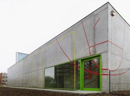 Architectura - DmvA ontwierp sporthal KA Hiel in Schaarbeek