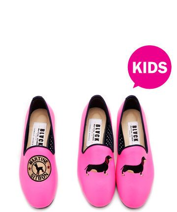 Black Martine Sitbon Lonely shoes kids pink