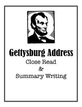 Essay question gettysburg address