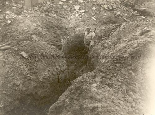 BU-F-01073-1-08737 Tranşee inamice părăsite. Mărăşeşti, 1917.07.12 (niv.Document)