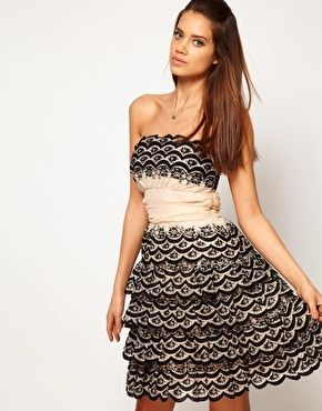 ASOS Prom Dress with Scalloped Edge