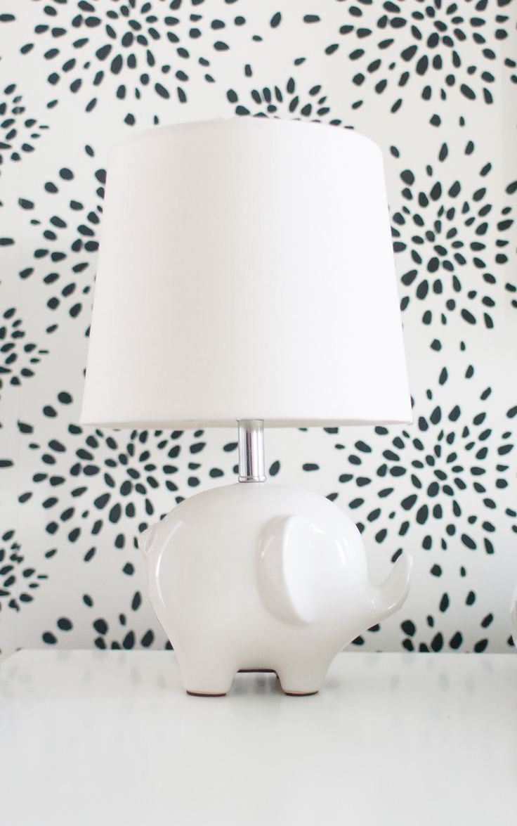 Elephant lamp for nursery - In The Nursery With Lay Baby Lay