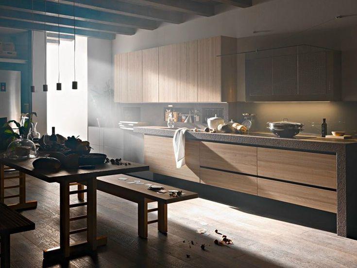 Elm fitted kitchen ARTEMATICA OLMO TATTILE Artematica Line by VALCUCINE