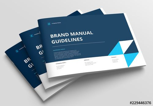 brand manual layout with blue accents search more similar templates