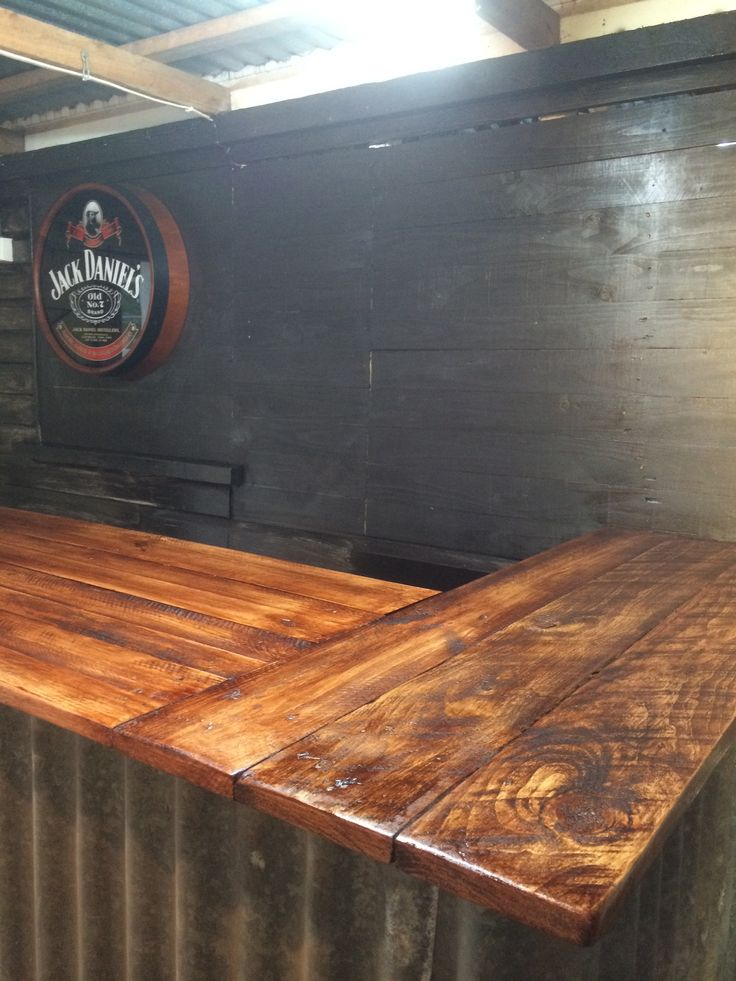 Pallet Shed Man Cave : Best images about our aussie recycled bar room man